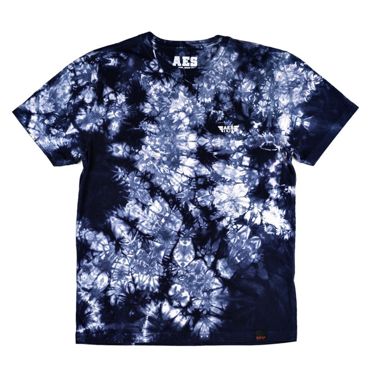 Camiseta AES 1975 Tie Dye Masculina - Azul