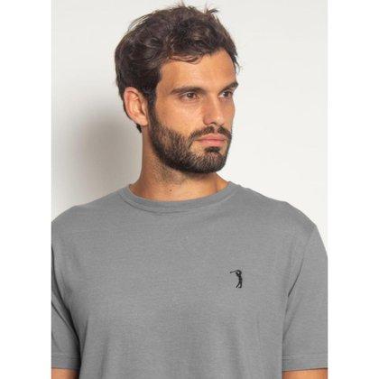 Camiseta Aleatory Básica Lisa Cinza