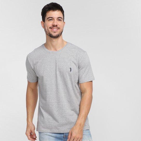 Camiseta Aleatory Básica Masculina - Cinza Claro