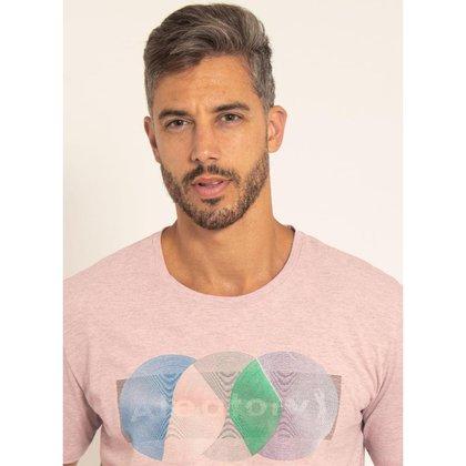 Camiseta Aleatory Estampada Circle
