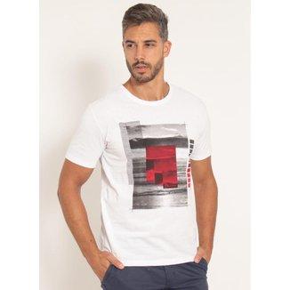 Camiseta Aleatory Estampada Horizon Masculina