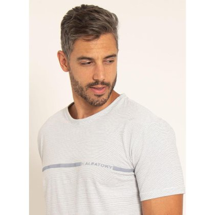Camiseta Aleatory Estampada Stripe