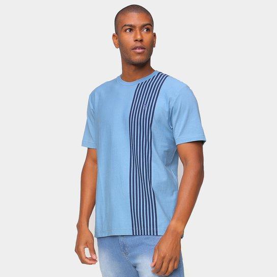 Camiseta Aleatory Listrada Masculina - Azul