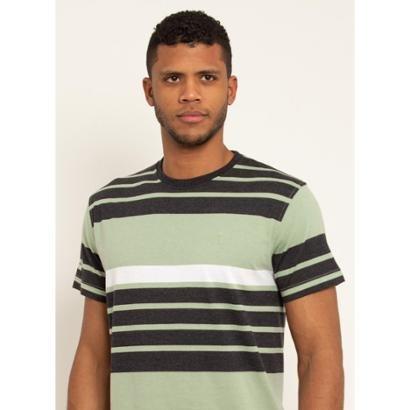 Camiseta Aleatory Listrada Save Masculina