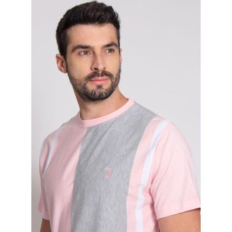 Camiseta Aleatory Listrada Smart Masculina