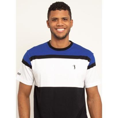 Camiseta Aleatory Listrada Smile Masculina