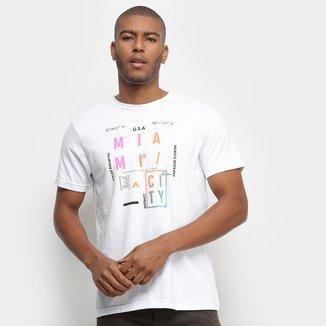 Camiseta Aleatory Miami City Masculina