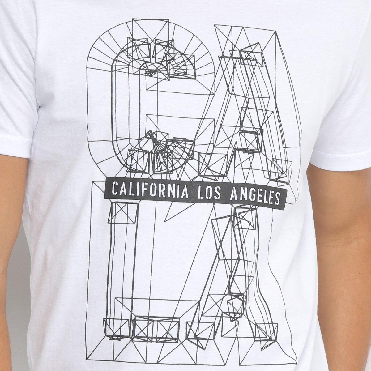 Camiseta All Free Estampada California Los Angeles Masculina ... 5690c896f6b