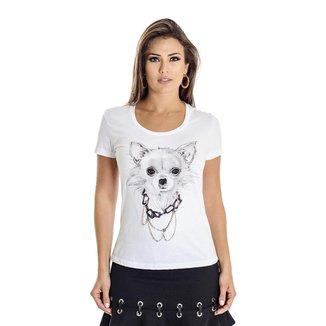 Camiseta Ana Hickmann Chihuahua Feminina