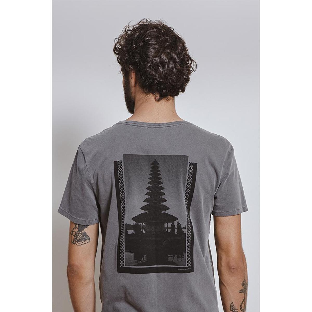 Camiseta Armadillo T-Shirt Bali Hotel Masculina - Chumbo