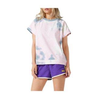 Camiseta ASICS FT Tie Dye - Feminina - Cinza - tam: M Asics