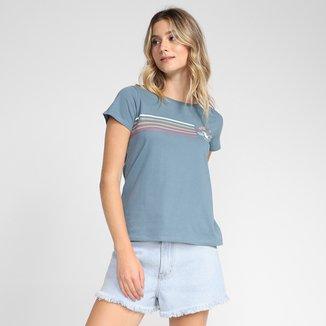 Camiseta Baby Look Hang Loose Collor Feminina