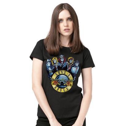 Camiseta BandUp! Guns N' Roses Skull Feminina