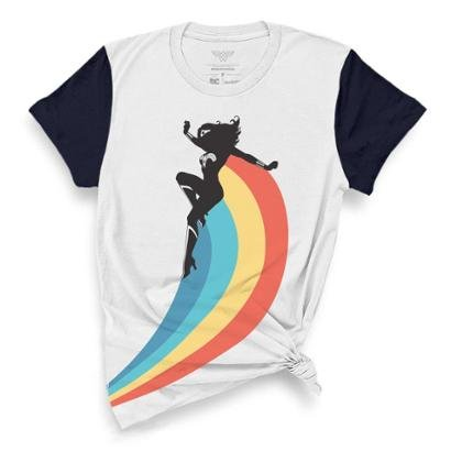 Camiseta Bandup!   Mulher Maravilha Rainbow-Feminino