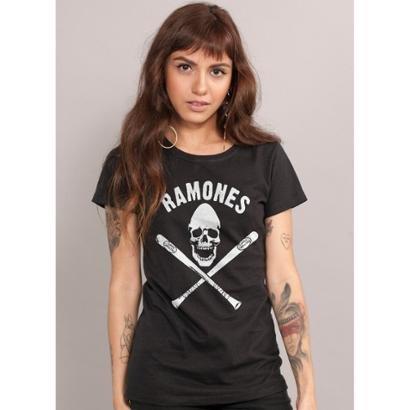 Camiseta Bandup!   Ramones Gabba Gabba Hey-Feminino