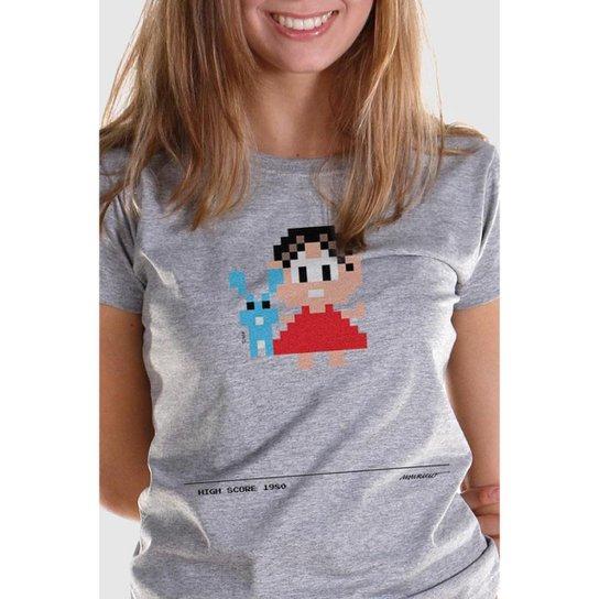 Camiseta Bandup Turma Da Mônica 50 Anos Modelo 6 Anos 80 Cinza
