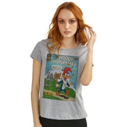 Camiseta Bandup   Pica-Pau Hq-Feminino