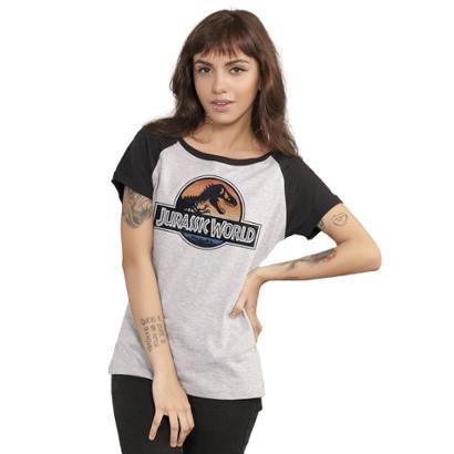Camiseta Bandup Raglan Jurassic World Logo