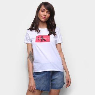 Camiseta Básica Calvin Klein Estampada Feminina