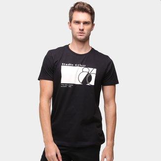 Camiseta Básica Colcci Estampada Manga Curta Masculina