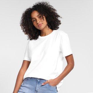 Camiseta Básica Colcci Manga Curta Feminina