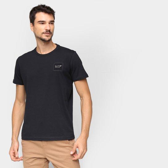 Camiseta Básica Ellus Manga Curta Masculina - Preto