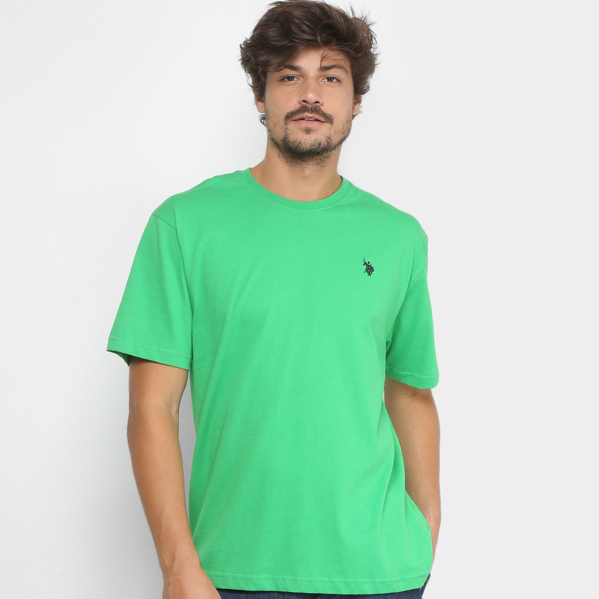 Camiseta Básica U.S.Polo Assn Manga Curta Masculina - Verde - Compre ... 9d817e98881dc