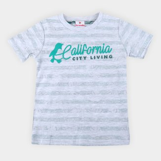 Camiseta Bebê Brandili Listrada Masculina