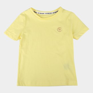 Camiseta Bebê Costão Básica Bordada Manga Curta Masculina