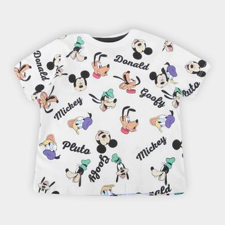 Camiseta Bebê Disney Mickey And Friends Full Masculina