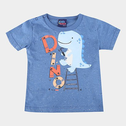 Camiseta Bebê Kiko & Kika Botonê Dino Masculina