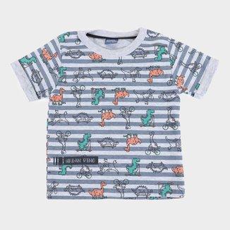 Camiseta Bebê Kiko & Kika Dino Masculina