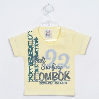 Camiseta Bebê Masculina Manga Curta Estampada