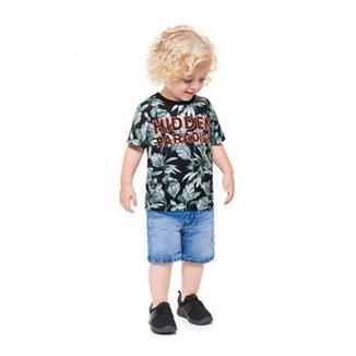 Camiseta Bebê Milon Floral Masculina