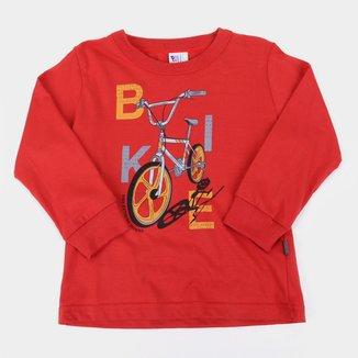 Camiseta Bebê Pulla Bulla Bike Manga Longa Masculina