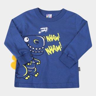 Camiseta Bebê Pulla Bulla Dino Masculina