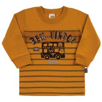 Camiseta Bebê Pulla Bulla Meia Malha Masculino