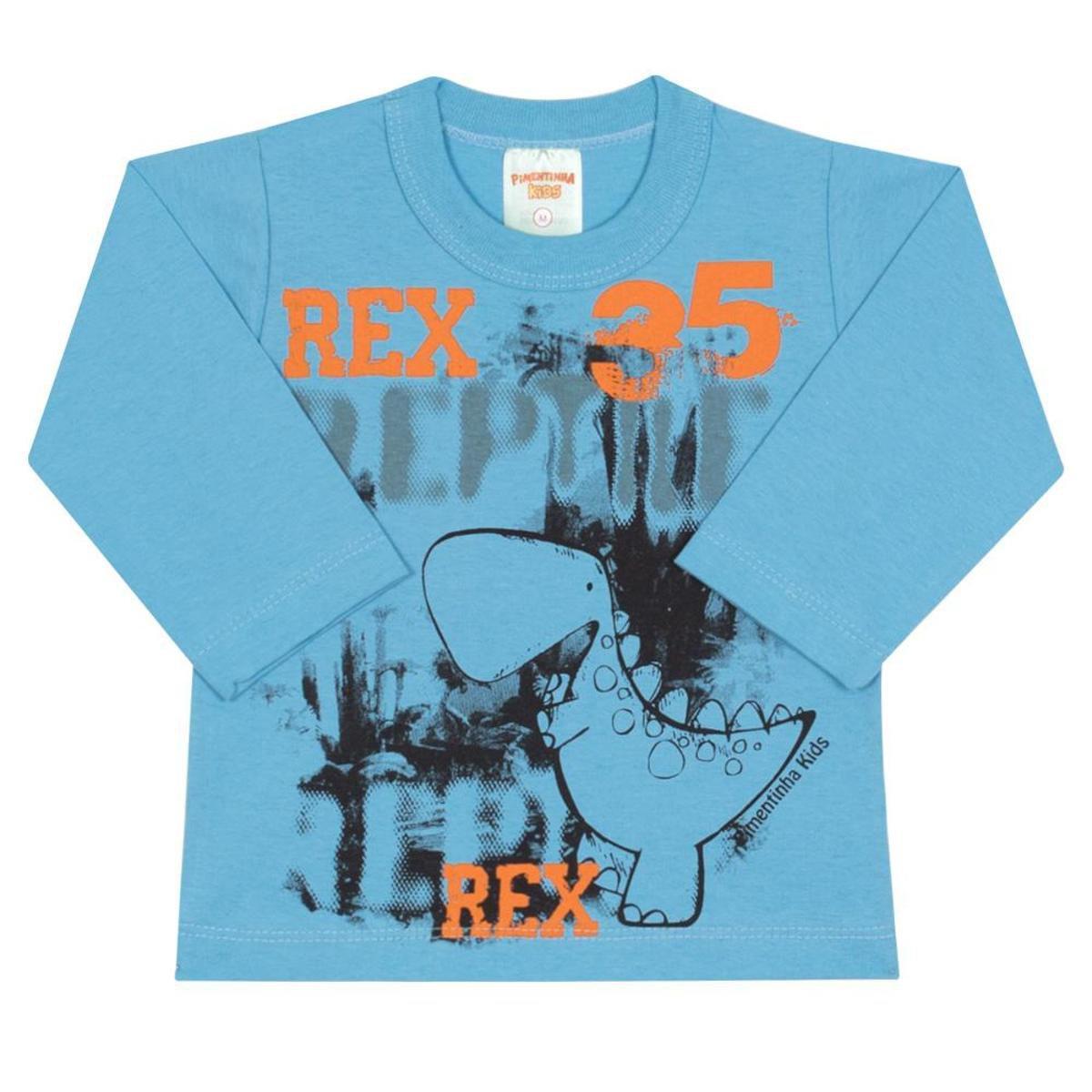 9015bef54f Camiseta Bebê Rex em Meia Malha Masculina - Compre Agora