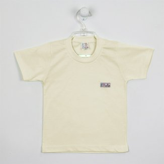 Camiseta Bebê Unissex Manga Curta Branca-1