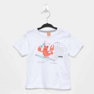 Camiseta Bebê Up Baby Estampada Masculina