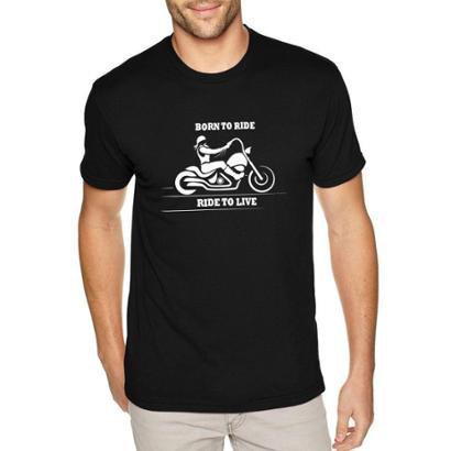 Camiseta Born To Ride Moto Custom Masculina