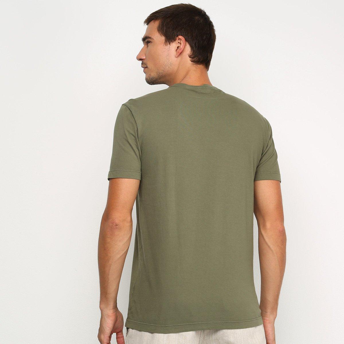 Camiseta Calvin Klein Basic Masculina - Verde Militar