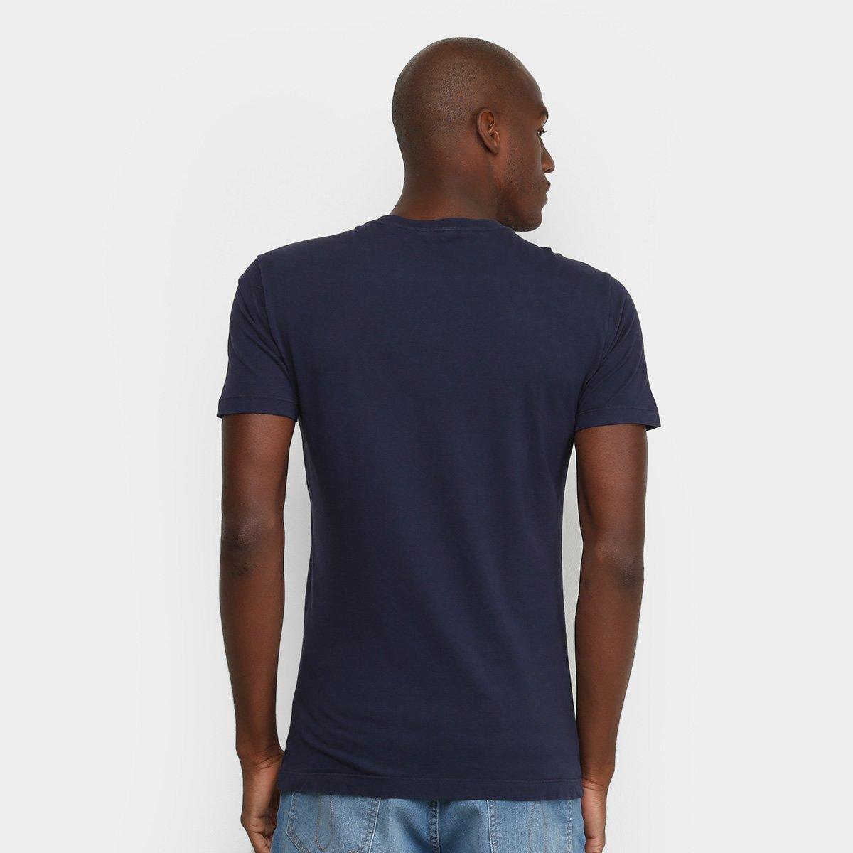 Camiseta Calvin Klein Básica Logo  Masculina - Marinho