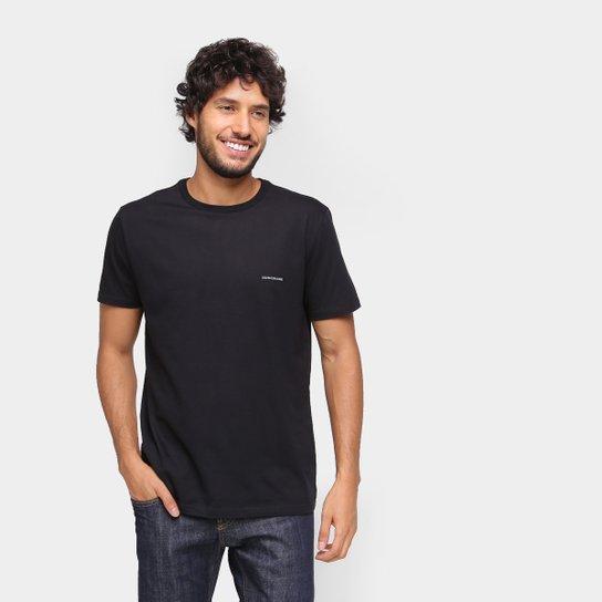 Camiseta Calvin Klein Básica Masculina - Preto