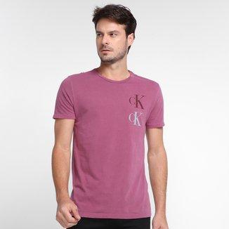 Camiseta Calvin Klein Casual Manga Curta Masculina