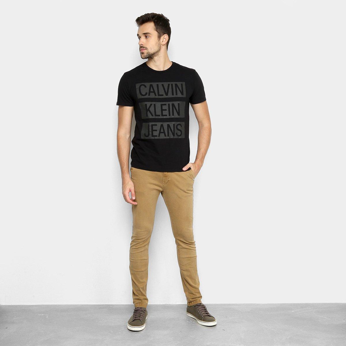 Camiseta Calvin Klein CK Jeans Masculina - Preto