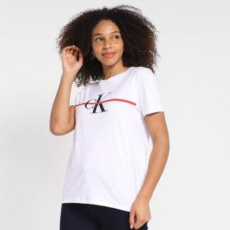 Camiseta Calvin Klein Estampada Manga Curta Feminina