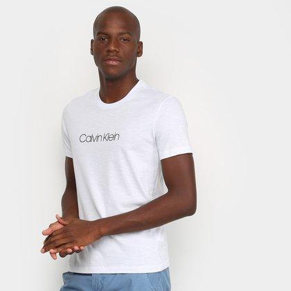 Camiseta Calvin Klein Flamê Logo Masculina