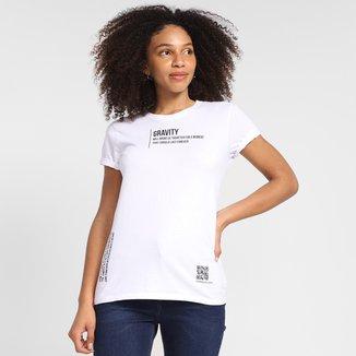 Camiseta Calvin Klein Gravity Manga Curta Feminina