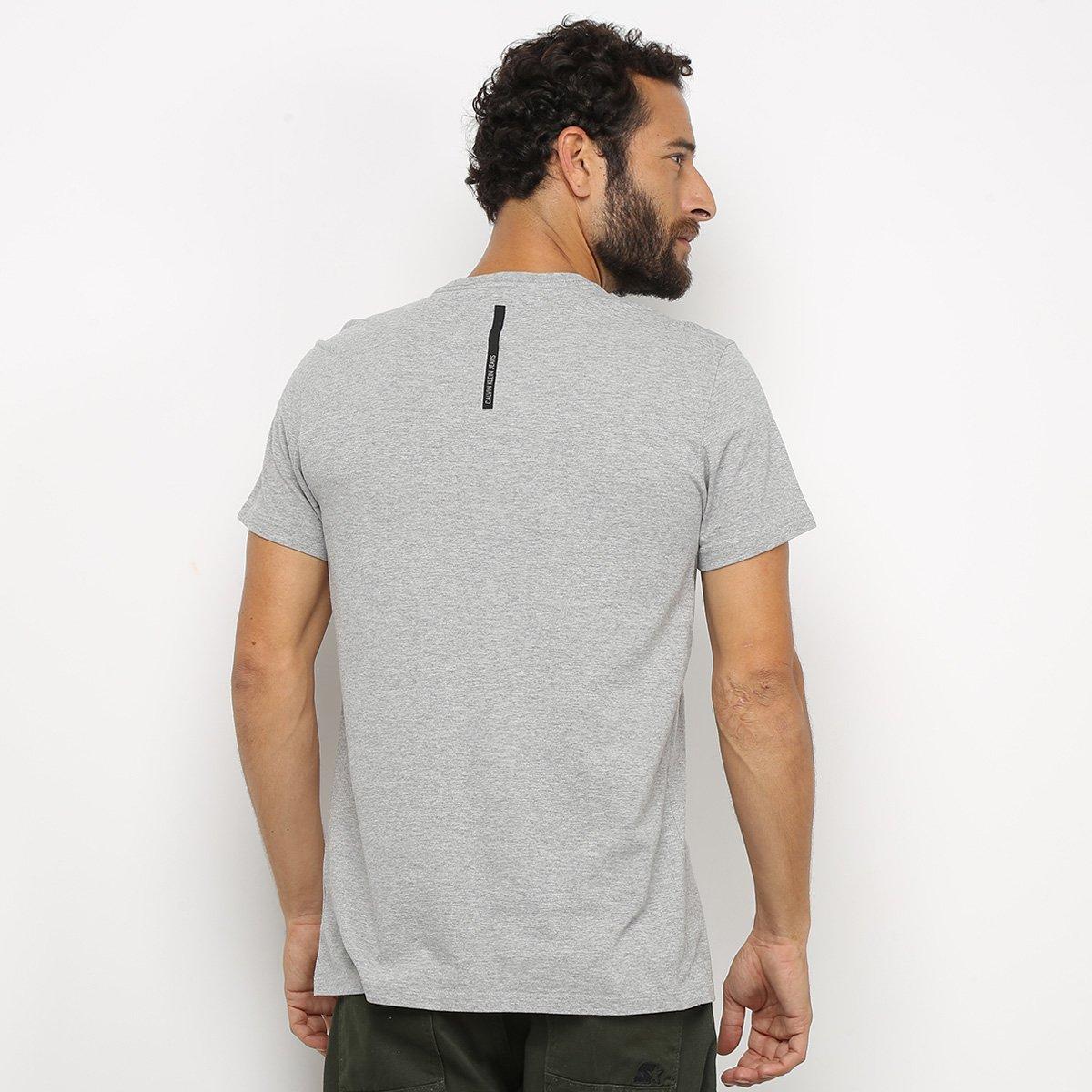 Camiseta Calvin Klein Jeans Logo Masculina - Mescla